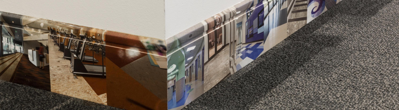 digital printed wall base masquerade custom commercial wall base