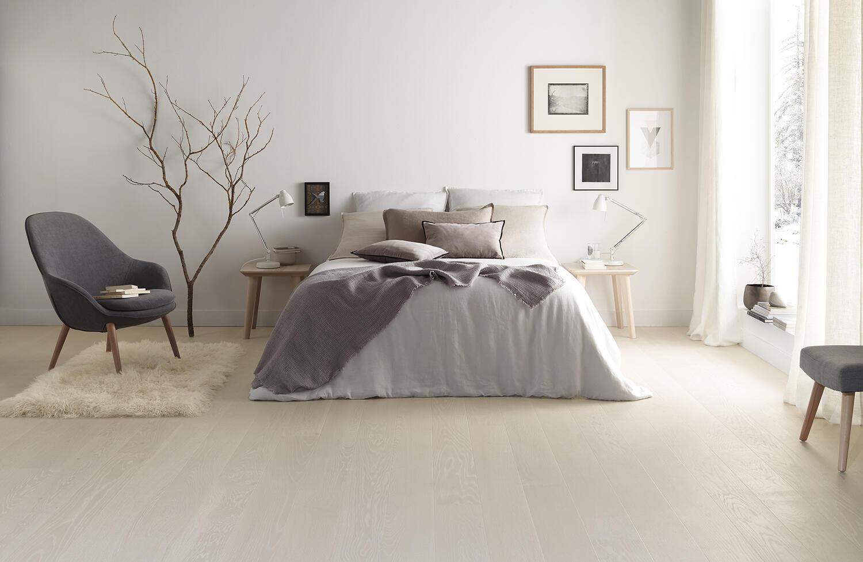 stratifié - sol - chambre à coucher