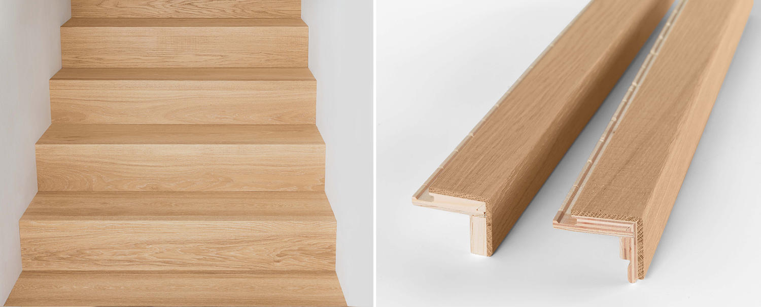 New Coordinating Wood Stair Nosings To Match Hardwood Staircases