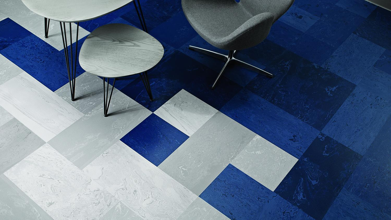 Mesto Configurations Rubber Tile Marbleized Pattern