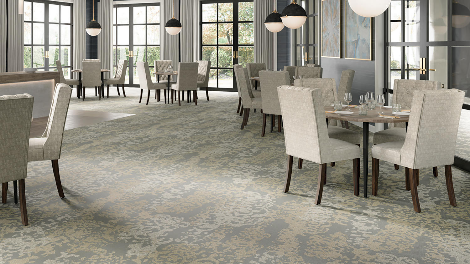 Winding Way Modern Damask Style Carpet Tarkett