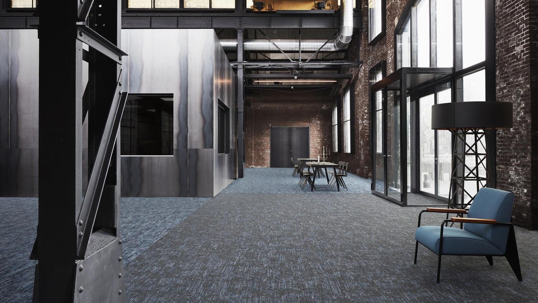 DESSO Jeans Twill tapijttegel installatie ashlar