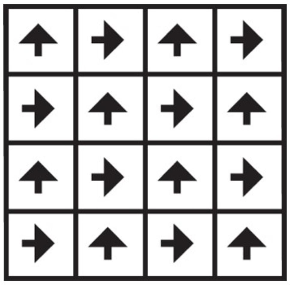 Installatie tapijttegel checkerboard
