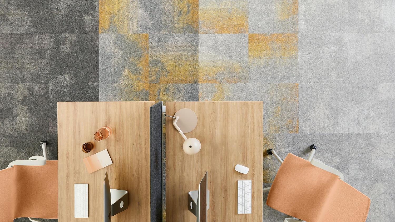 Desso carpet tile in office