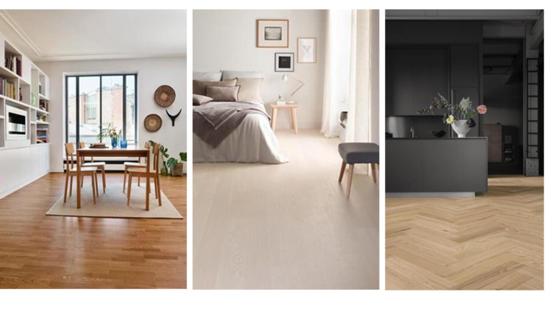 Parkett: Holzboden Küche und Schlafzimmer