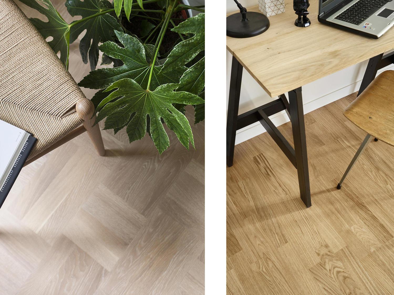 Holzboden im Arbeitszimmer