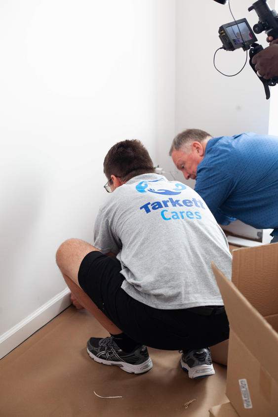 Trakett Cares at Military Makeover