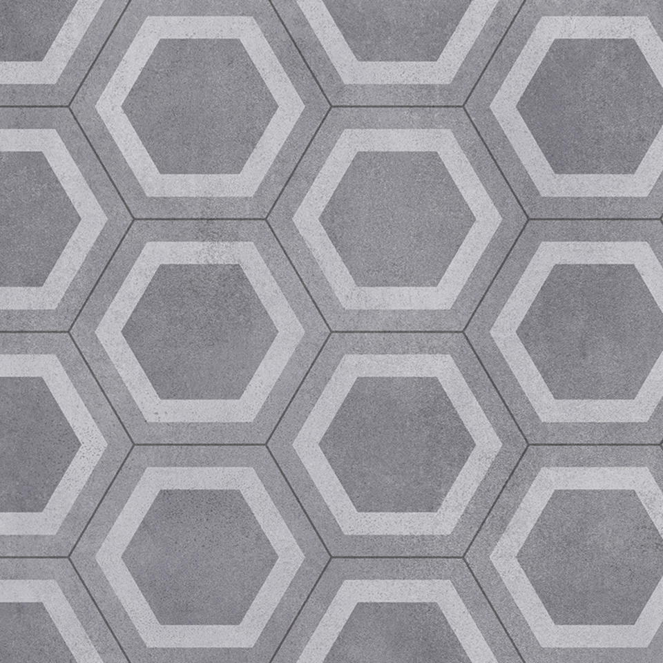 Honeycomb Tile Grey Gripstar Cushioned