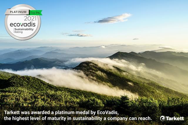 EcoVadis verkiest Tarkett als één van de duurzaamste bedrijven