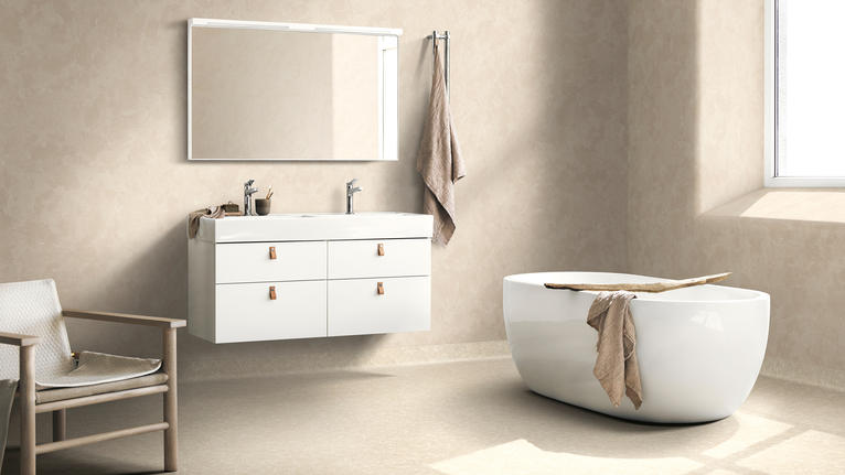 Gulv og vegg til baderom og vaskerom