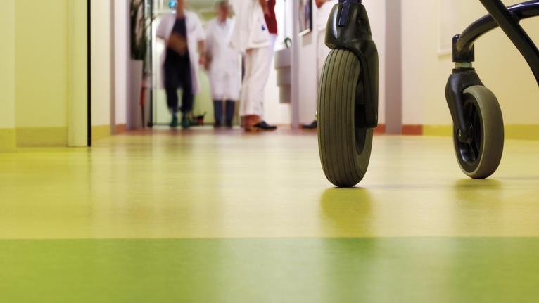 Gångkomfort och rullmotstånd | Sjukhus