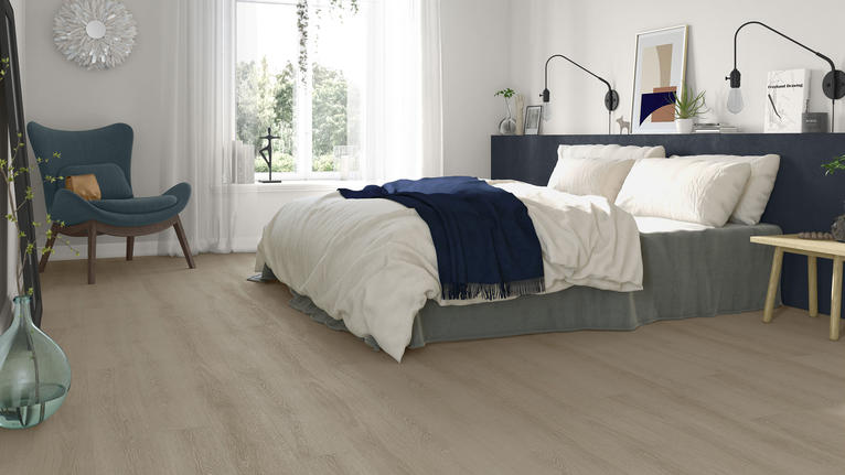 Choosing vinyl floors for a bedroom