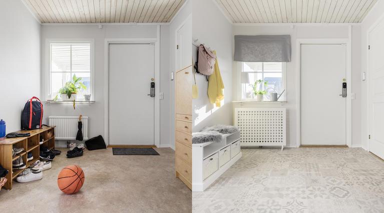 Gulvet gjør en stor forskjell. Slik oppgraderer du gangen med noen enkle grep!