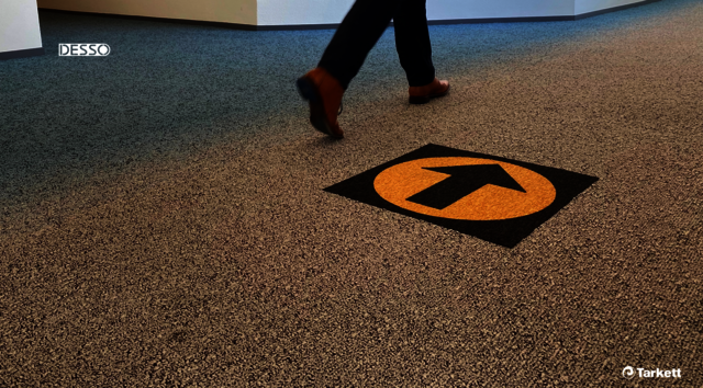 Desso Icons wayfinding carpet tiles