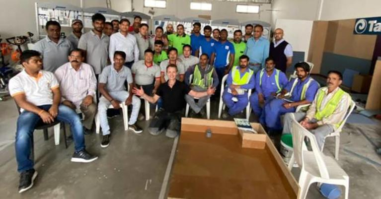 Tarkett Middle East, for another consecutive year, organized an installation training for Master fitters.