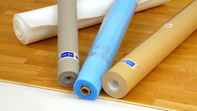 Underlag og dekkepapp til parkett og laminat