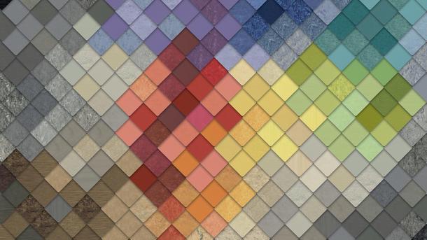 Linoleum colours creativity
