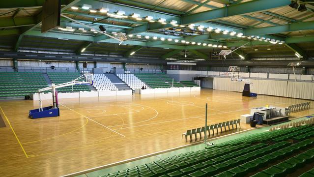 Sporthall med ytelastiskt sportgolv från Tarkett