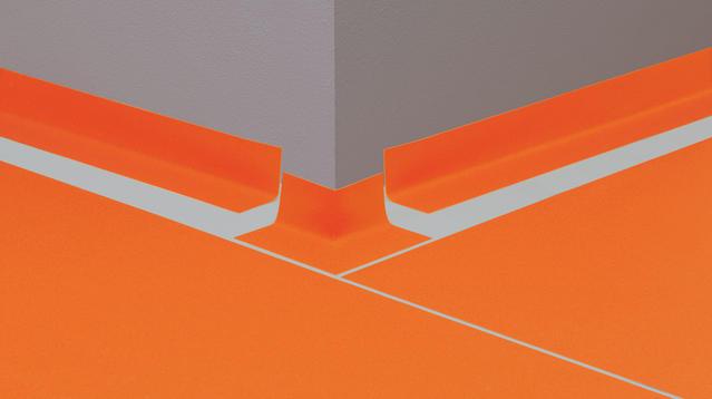 Performed Linoleum skirtings