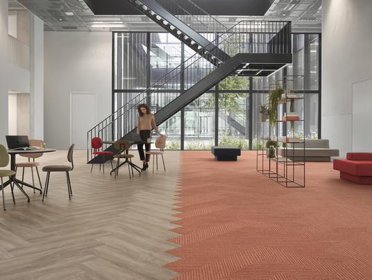 Fusion: Der richtige Mix aus Designboden und Teppichfliese