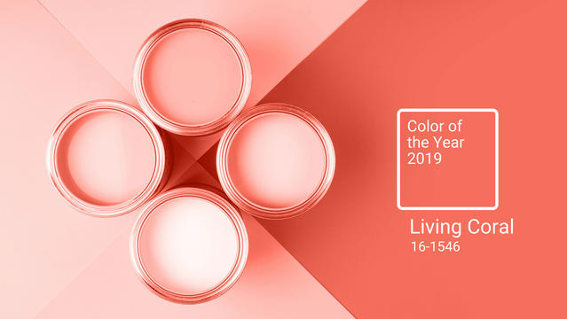 THE COLOUR OF THE YEAR 2019 – LIVING CORAL!