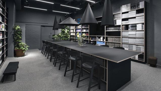 Koolmats showroom i Helsingfors