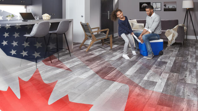 Made in North America: Discover a full line of flooring surfaces made right here in USA and Canada.