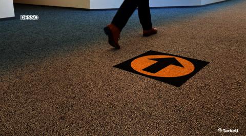 Desso Icons wayfinding carpet tiles